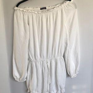 Brandy Melville white 3/4 sleeve Romper